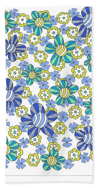 Flower Power 7 Beach Sheet