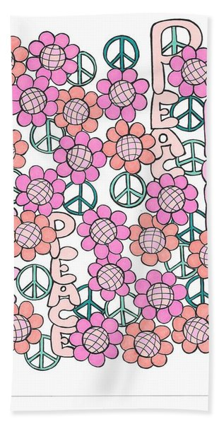 Flower Power 8 Beach Sheet