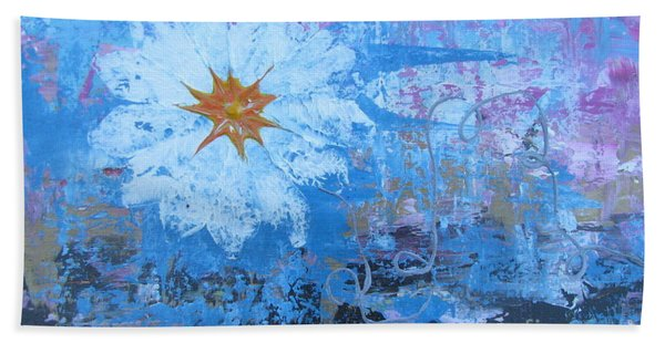 Beach Towel featuring the painting Flowers 19 by Jacqueline Athmann
