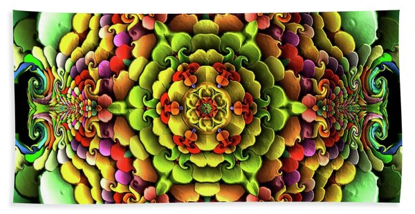 Beach Towel featuring the digital art Flowerscales 61 by Robert Thalmeier