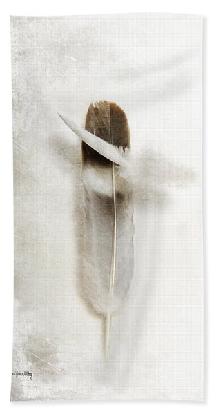 Flying Feathers Beach Towel