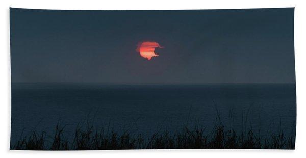 Fog Shrouded Sunrise Delray Beach Florida Beach Towel