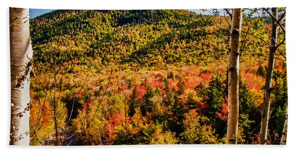 Beach Towel featuring the photograph Foliage View From Crawford Notch Road by Jeff Folger