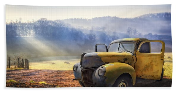 Ford In The Fog Beach Towel