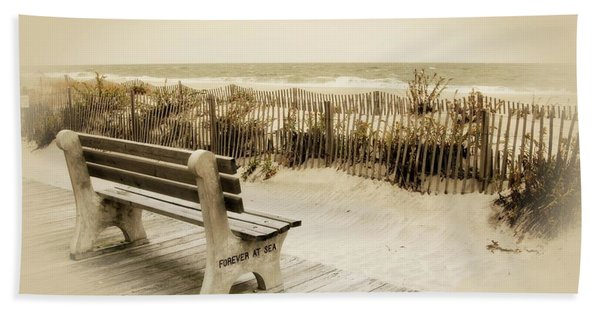 Forever At Sea - Jersey Shore Beach Towel
