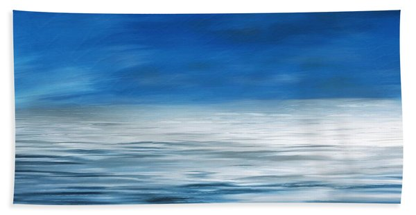 Beach Towel featuring the painting Forever Sea by Mark Taylor