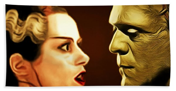 Frankenstein And The Bride I Have Love In Me The Likes Of Which You Can Scarcely Imagine 20170407 Sq Beach Towel
