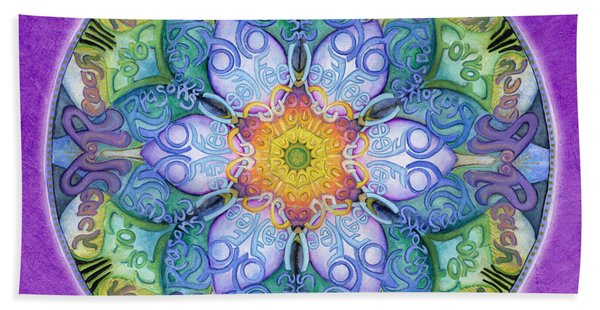 Freedom Mandala Beach Towel