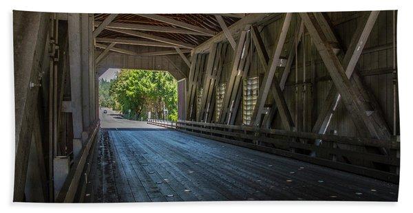 From The Inside Looking Out - Shimanek Bridge Beach Towel