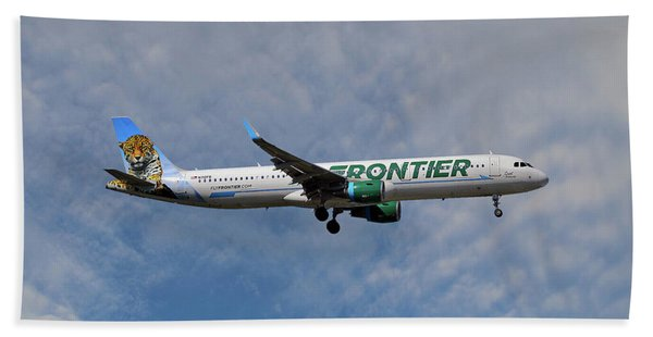Frontier Airbus A321-211 Beach Towel
