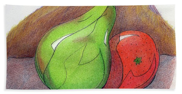 Fruit Still 34 Beach Sheet
