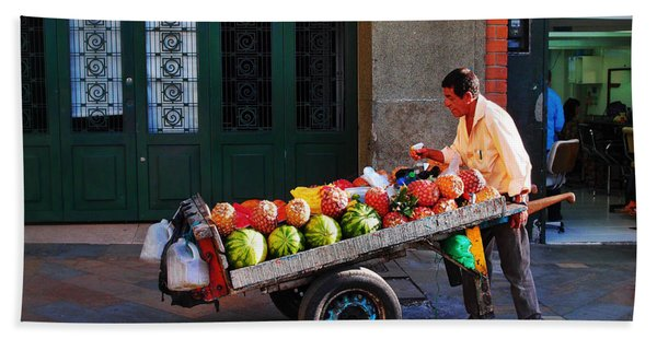 Beach Towel featuring the photograph Fruta Limpia by Skip Hunt