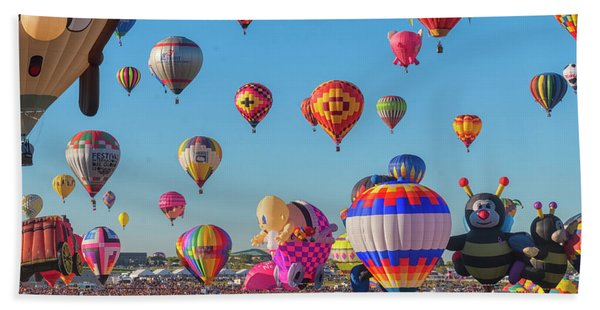 Beach Towel featuring the photograph Funky Balloons by Tom Singleton