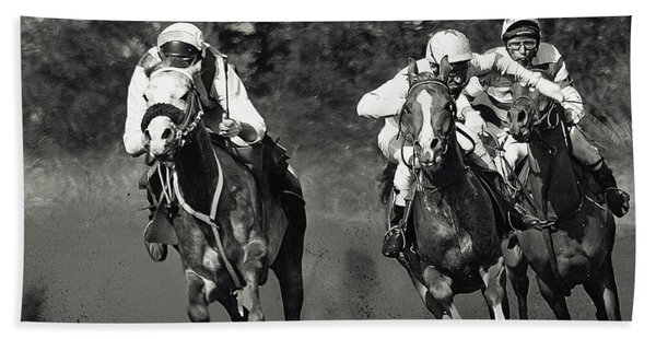Gambling Horses Beach Towel