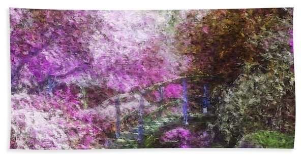 Beach Towel featuring the painting Garden Dream by Mark Taylor