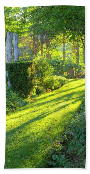 Beach Towel featuring the photograph Garden Path by Tom Singleton