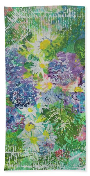 Garden View Beach Towel