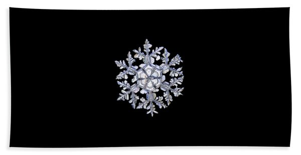 Gardener's Dream, White On Black Version Beach Towel