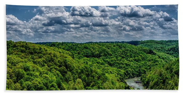 Gauley River Canyon And Clouds Beach Sheet