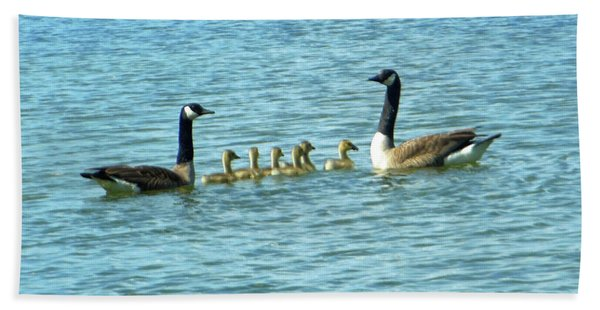 Geese Proud Parents Beach Towel