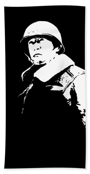 General George Patton - Black And White Beach Towel