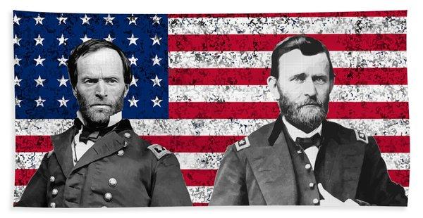 Generals Sherman And Grant  Beach Towel