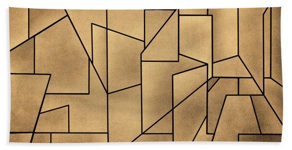 Geometric Abstraction IIi Toned Beach Towel