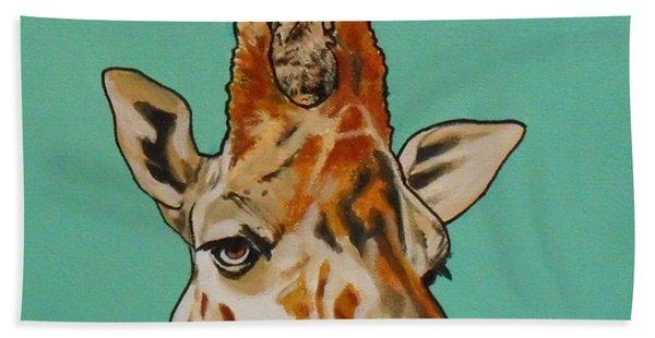 Gerald The Giraffe Beach Towel