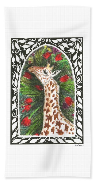 Giraffe In Archway Beach Towel