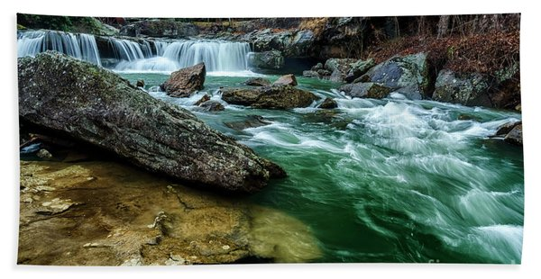 Glade Creek And Grist Mill Beach Towel