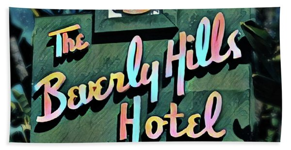 Glitzy Beverly Hills Hotel Beach Towel
