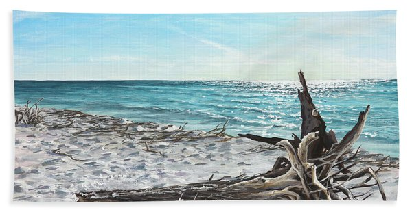 Gnarled Drift Wood Beach Sheet