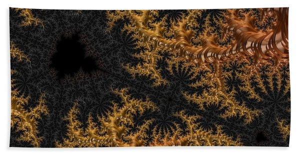 Golden Branching Moss Beach Towel