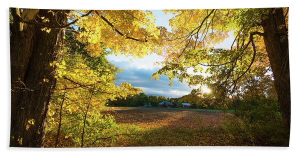 Golden Fields Beach Towel