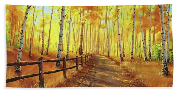 Golden Forest Beach Sheet
