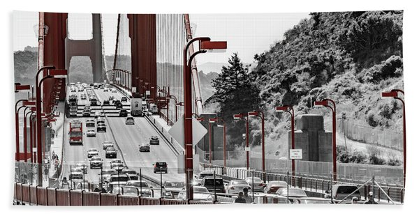 Golden Gate Bridge Street View Beach Towel