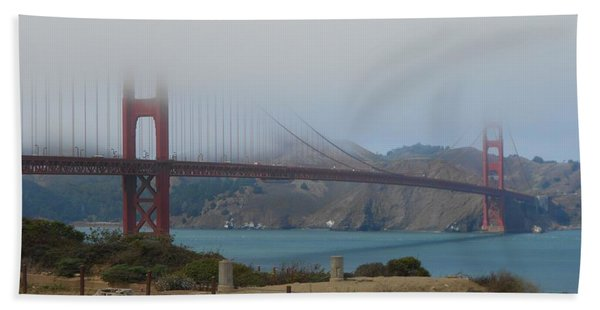 Golden Gate In The Clouds Beach Towel