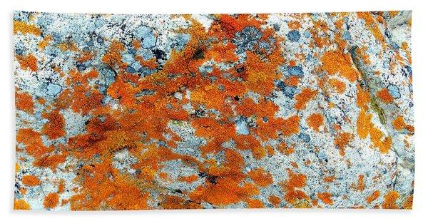 Golden Lichen Beach Towel