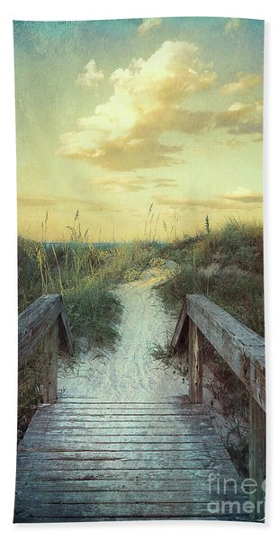 Golden Pathway Beach Towel