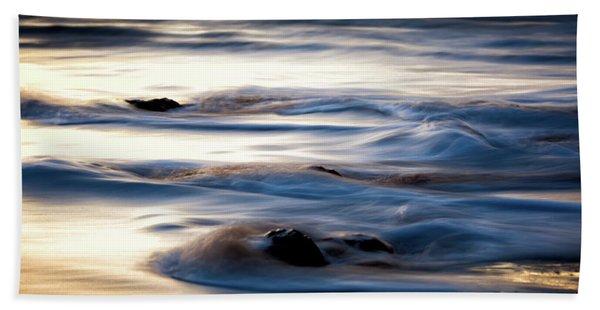 Golden Serenity Beach Towel