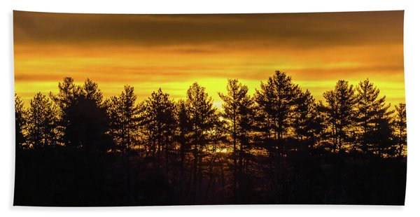 Golden Sunrise Beach Towel