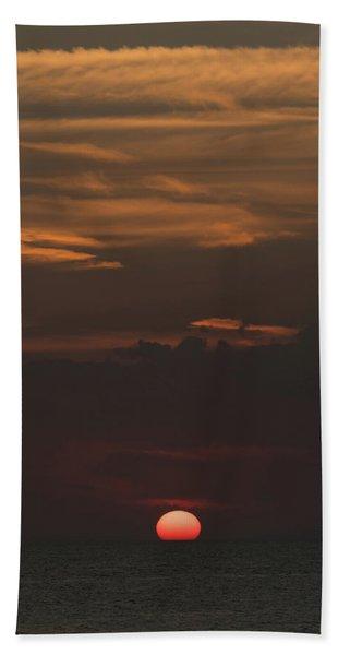 Golden Sunset Venice Florida Beach Towel