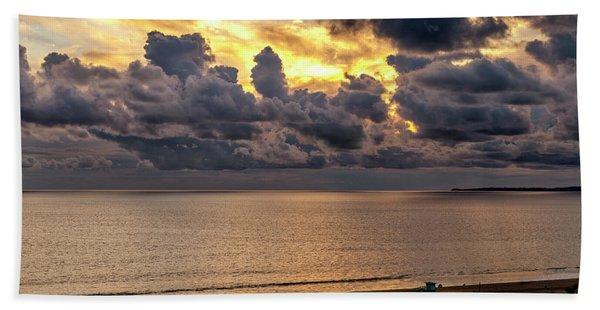 Golden Surf - Point Dume, California Beach Sheet