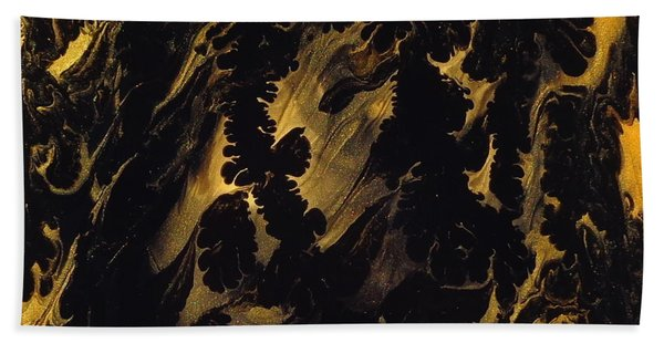 Golden Swirls Beach Towel