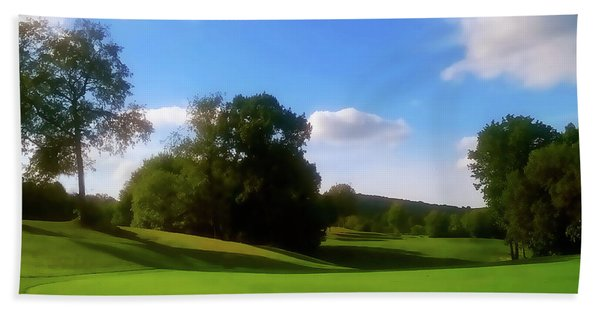 Golf Course Landscape Beach Towel