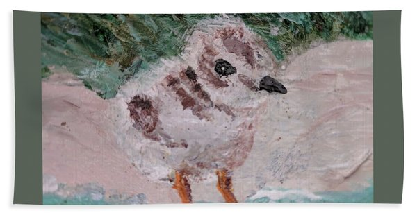 Good Harbor Piping Plover Chick #1 Beach Towel
