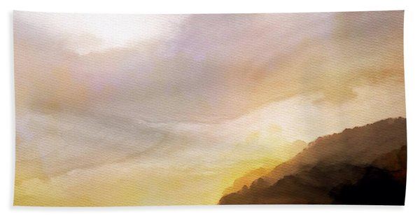 Beach Towel featuring the painting Good Morning by Mark Taylor