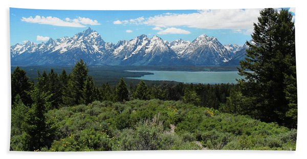 Beach Towel featuring the photograph Grand Tetons by Jemmy Archer