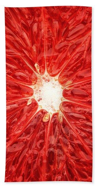 Grapefruit Close-up Beach Towel
