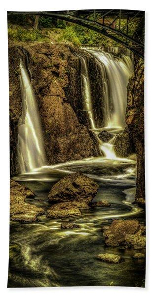 Great Falls Close Up Beach Towel